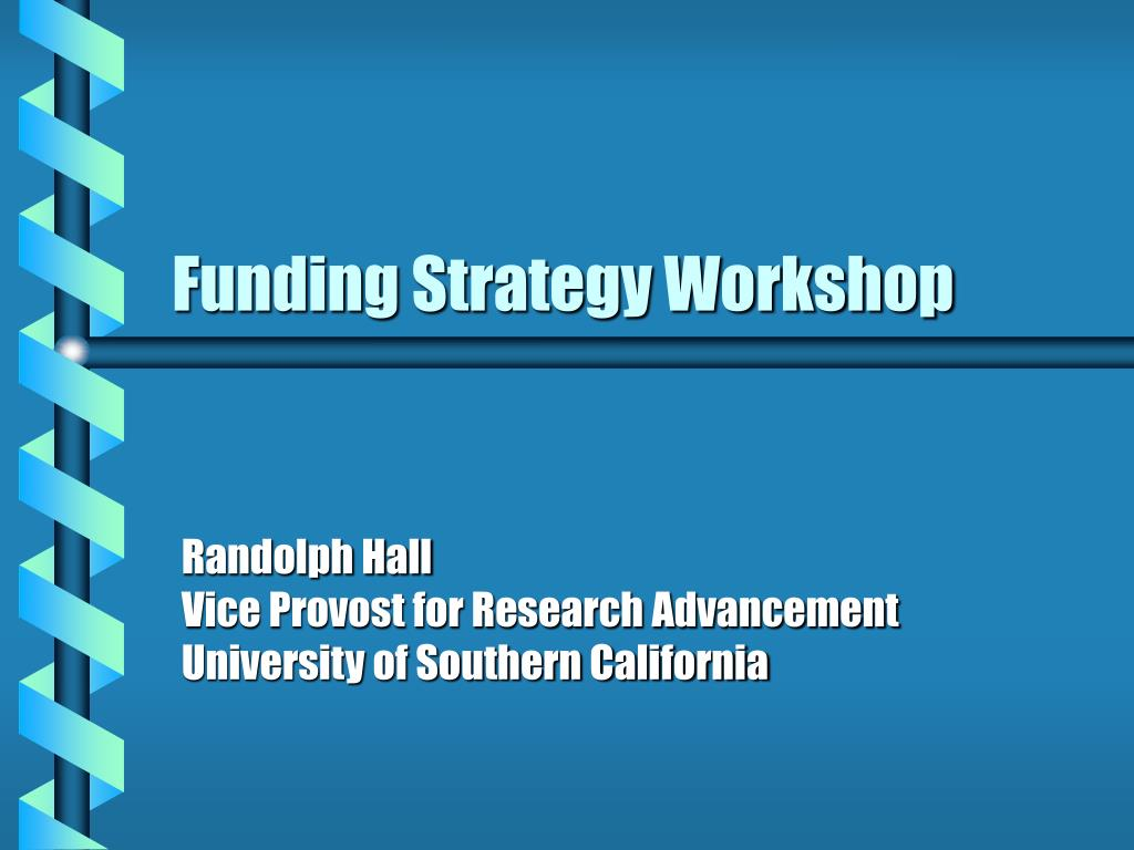 funding strategy workshop l.