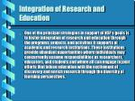 integration of research and education