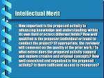 intellectual merit
