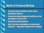myths of proposal writing