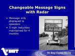 changeable message signs with radar