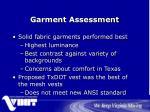 garment assessment