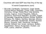countries with total gdp less than any of the top 10 world corporations cont