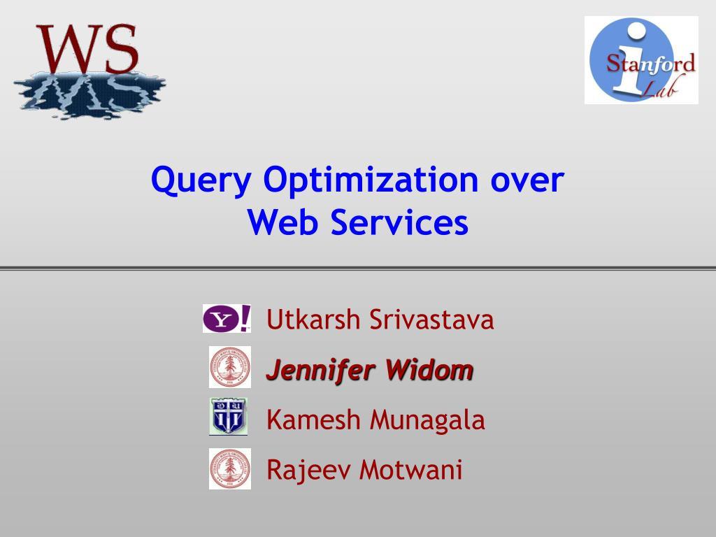 query optimization over web services l.
