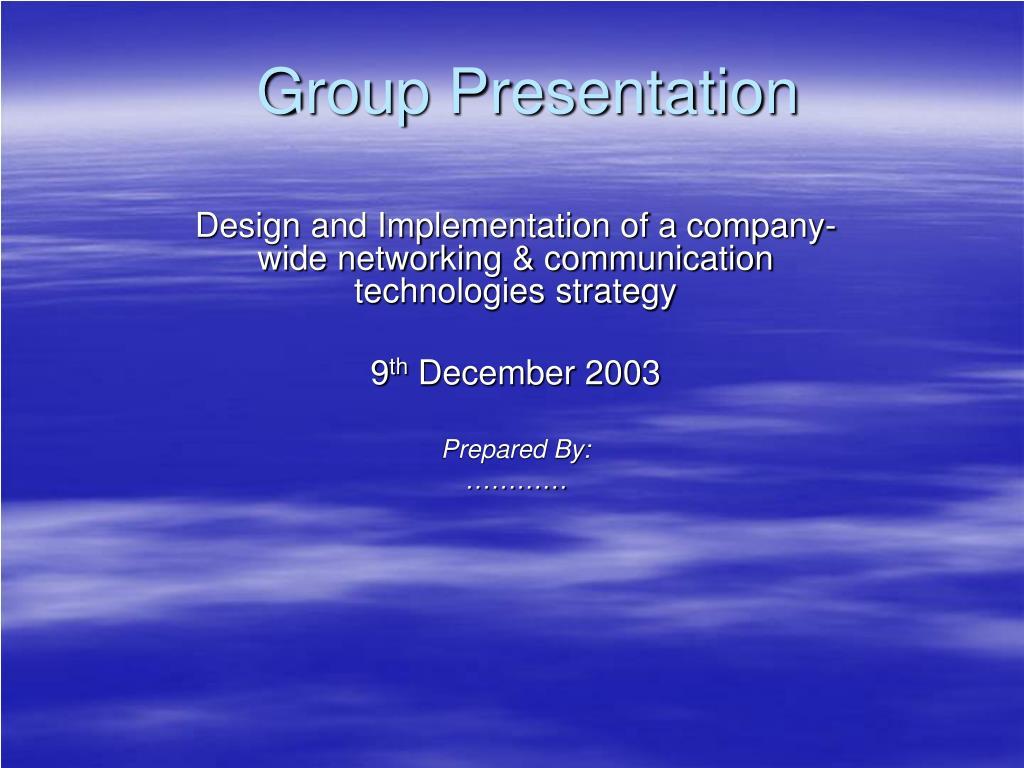 group presentation l.