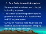 3 data collection and information