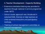 4 teacher development capacity building