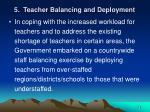 5 teacher balancing and deployment