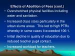 effects of abolition of fees cont14
