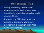 other strategies cont