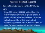 resource mobilization cont