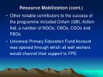 resource mobilization cont25