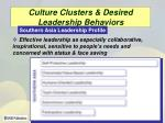 culture clusters desired leadership behaviors25