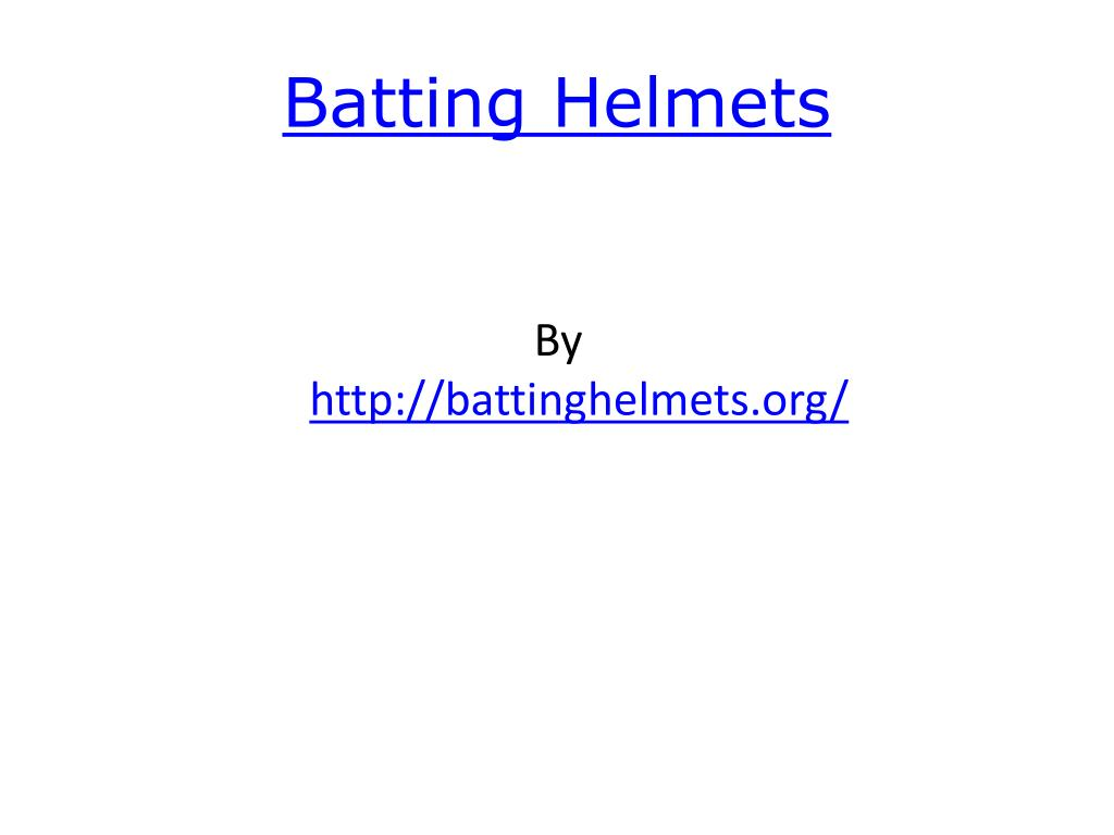 batting helmets l.