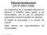 tribunal constitucional stc n 00017 2008