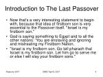 introduction to the last passover4