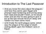 introduction to the last passover5