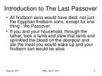 introduction to the last passover6