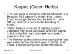 karpas green herbs