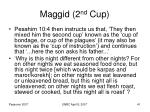 maggid 2 nd cup
