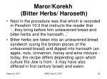 maror korekh bitter herbs haroseth
