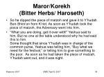 maror korekh bitter herbs haroseth36