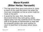 maror korekh bitter herbs haroseth38