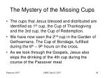 the mystery of the missing cups64