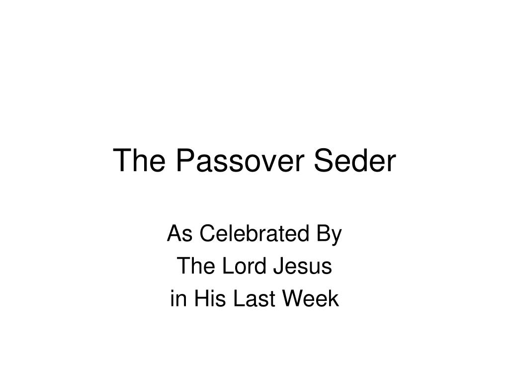 the passover seder l.