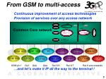 from gsm to multi access