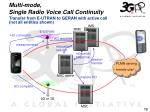 multi mode single radio voice call continuity