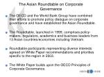 the asian roundtable on corporate governance