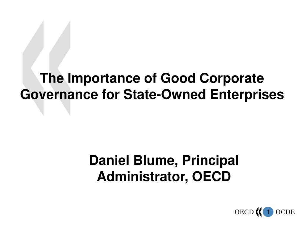 the importance of good corporate governance for state owned enterprises l.