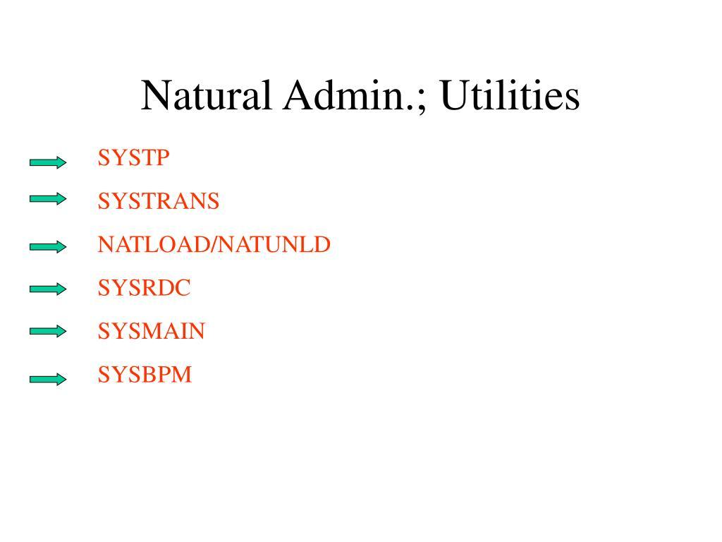 natural admin utilities l.