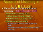 aspects of listening in l t l l 2