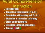 aural comprehension instruction