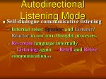 autodirectional listening mode