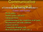 communicative outcome 3
