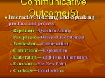 communicative outcome 5