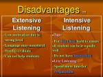 disadvantages 44