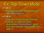 ex top down mode