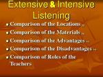 extensive intensive listening