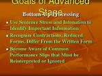 goals of advanced stage