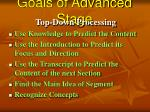 goals of advanced stage63