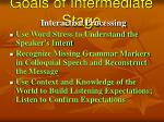 goals of intermediate stage60
