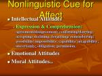 nonlinguistic cue for affect26