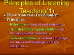 principles of listening teaching 1