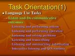 task orientation 1