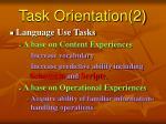 task orientation 2