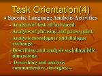 task orientation 4